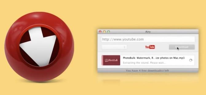 Airy te permite descargar vídeos de Youtube de manera muy simple