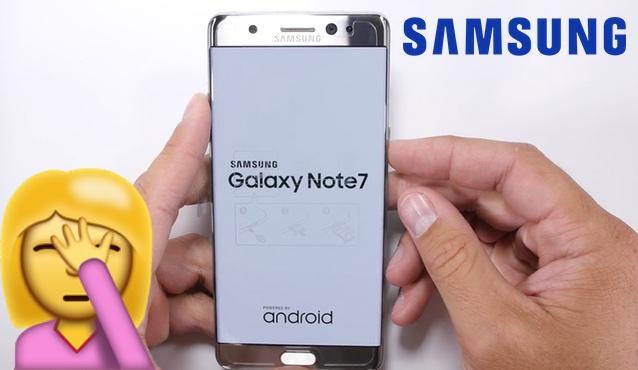 La dureza de la pantalla del Samsung Galaxy Note 7 es cuestionable
