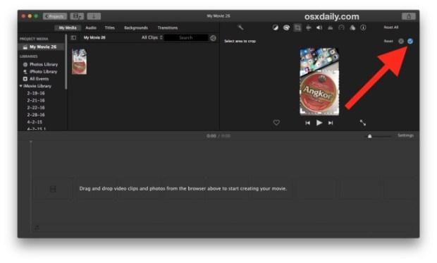 Cómo recortar un vídeo en Mac gracias a iMovie