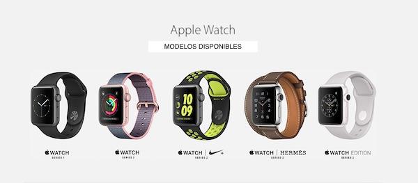 Apple Watch - estos son los modelos disponibles