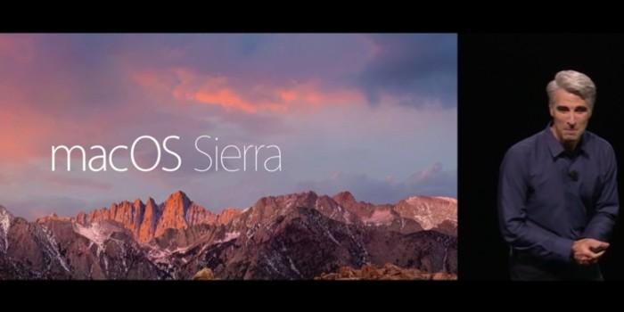 macOS Sierra estará disponible a partir del 20 de Septiembre
