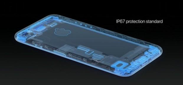 iPhone 7 - resistente al agua según el estándar IP67