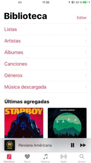 Apple Music - Biblioteca