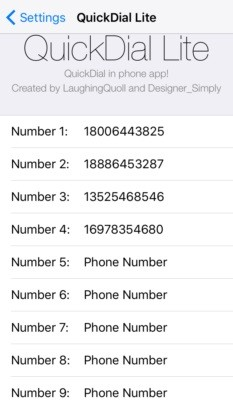 QuickDial Lite