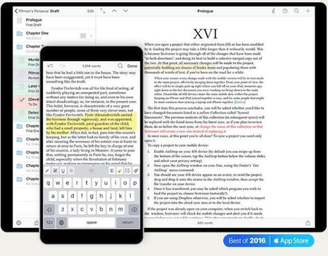 iOS - scrivener