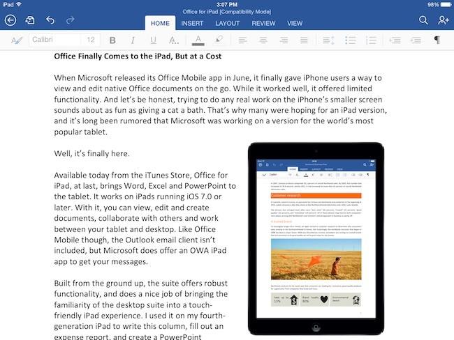 iPad App - Word