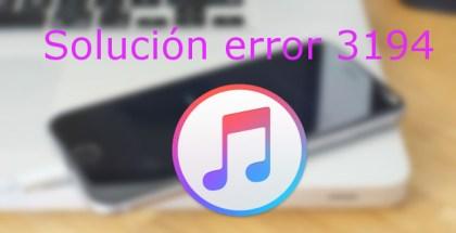 Error 3194 iTunes
