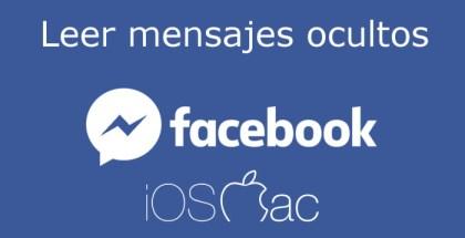 Leer mensajes ocultos en Facebook
