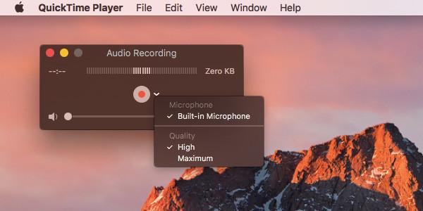 QuickTime: grabar audio