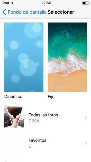 Cambiar fondo de pantalla iOS