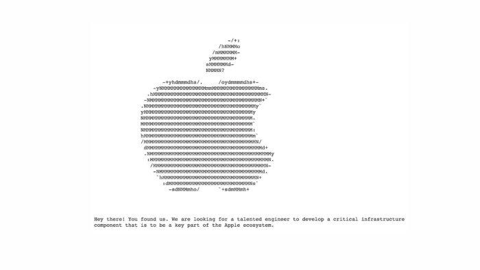Apple tiene una web escondida