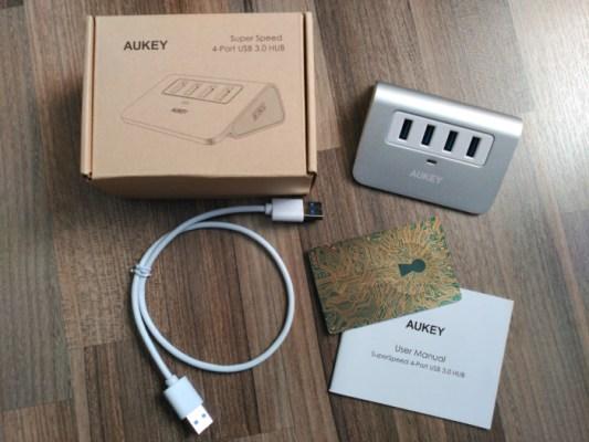Contenido de la caja Aukey HUB USB 3.0