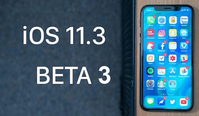 beta 3 de ios 11.3