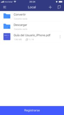 PDFelement para iOS: página principal
