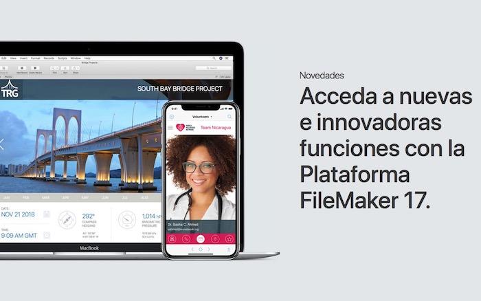 FileMaker ya permite crear apps personalizadas