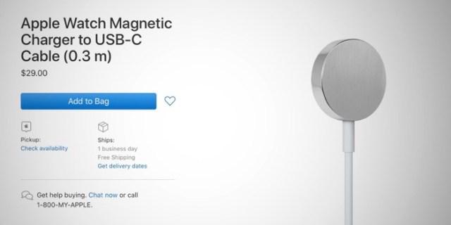 Cargador USB-C para el Apple Watch