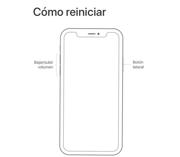 Reinicio forzado en los iPhone X