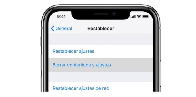 Cómo resetear un iPhone a estado de fábrica
