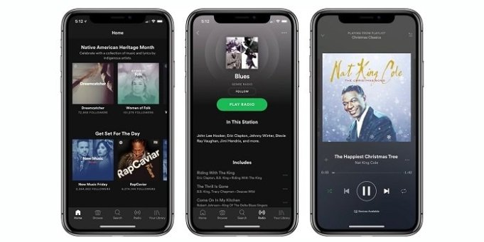 Spotify agrega soporte para las pantallas del iPhone XR / XS Max y Apple Watch Series 4