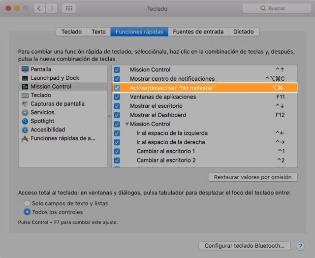 No molestar en Mac