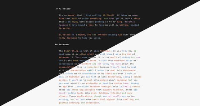 iA Writer Dark Mode