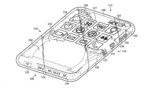 Una patente muestra una pantalla totalmente funcional