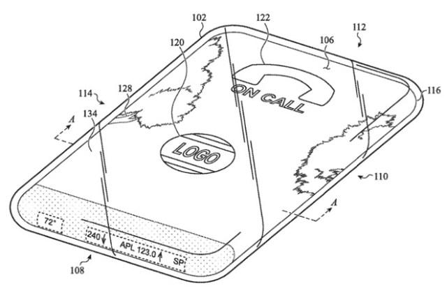 Patente con una pantalla toda de cristal