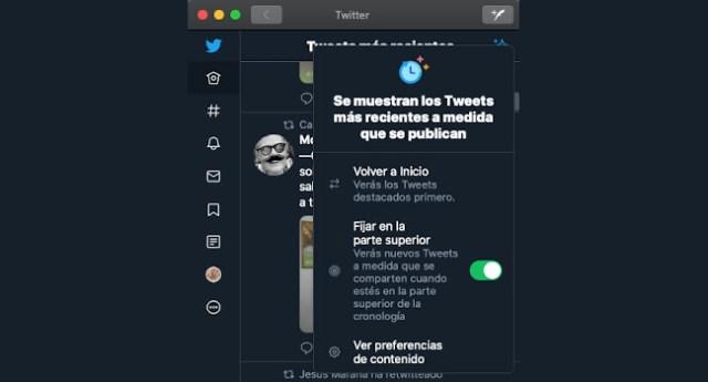 La app Twitter para Mac