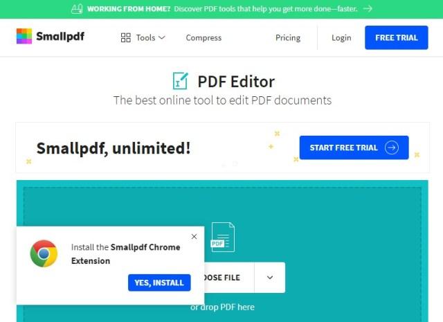 Editar PDF sin instalar ninguna aplicación con smallpdf