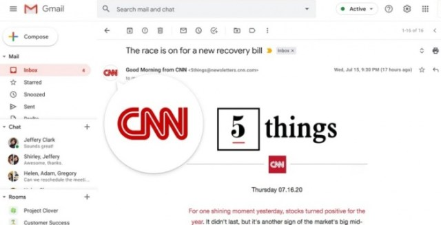 Iniciativa de Gmail para verificar mail de las empresas