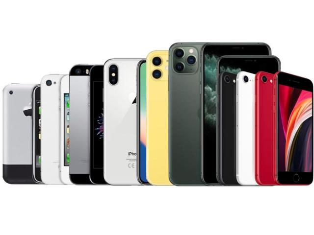 Diseño del iPhone en el tiempo