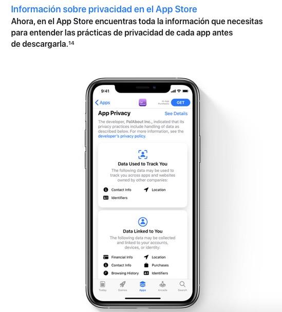 Rastreo de apps iOS 14