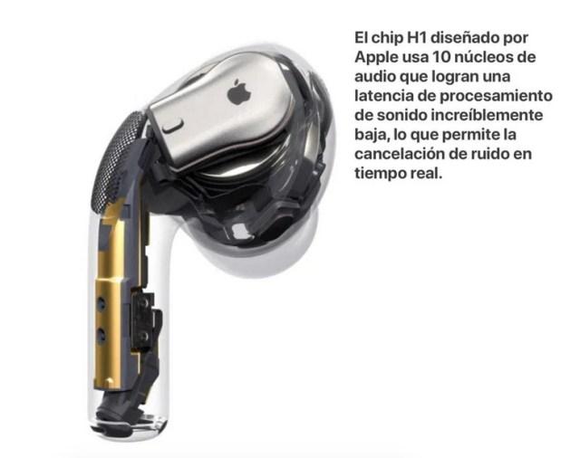 Chip H1 AirPods de Apple