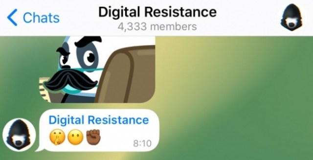 Administradores anónimos en Telegram