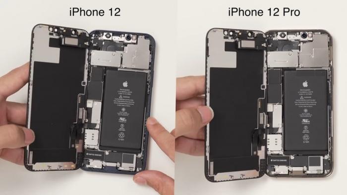 Misma batería en iPhone 12 y 12 Pro