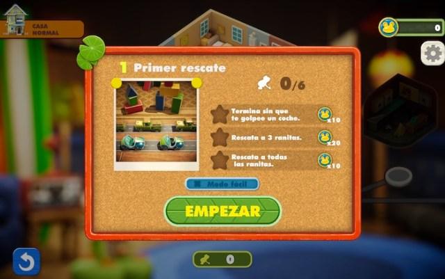 Objetivos del nivel en Frogger in Toy Town