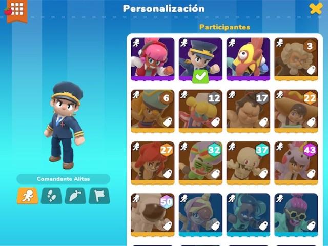 Personajes disponibles