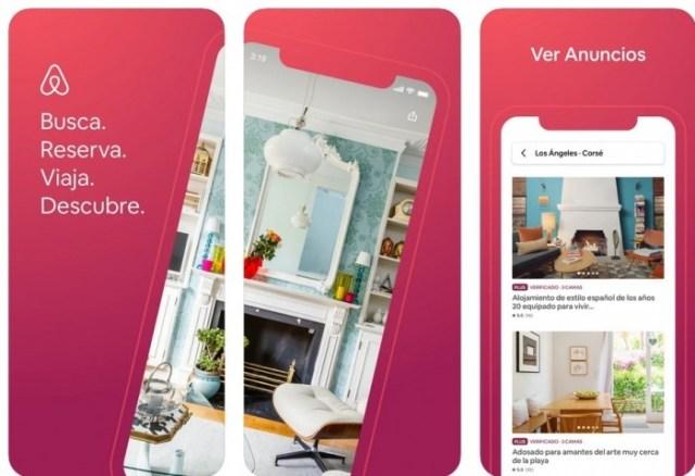 aplicaciones iOS Airbnb