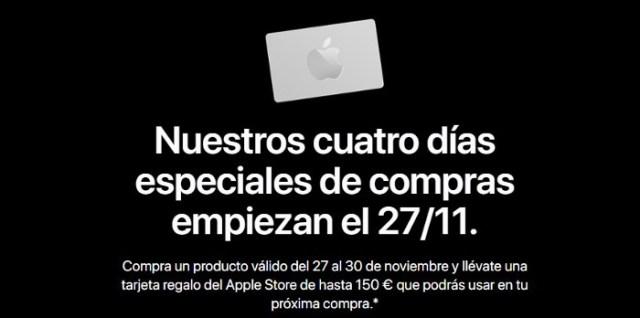 Apple ofrecera tarjetas regalo