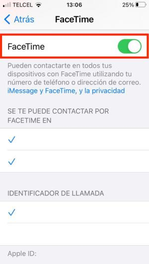 Verificar FaceTime