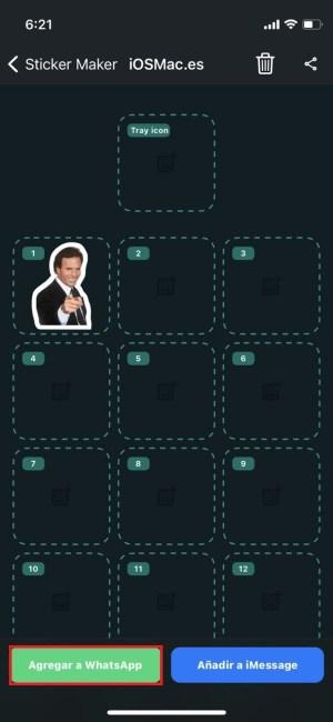 Agregar stickers a WhatsApp