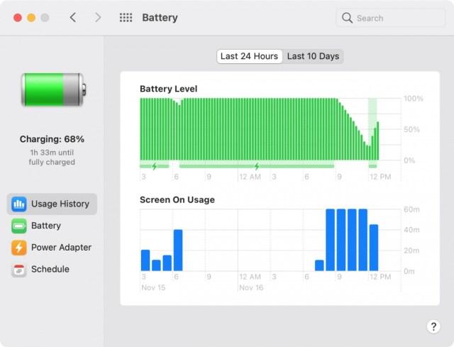 Bateria en macOS Big Sur