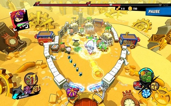 Primeros niveles Zombie Rollerz