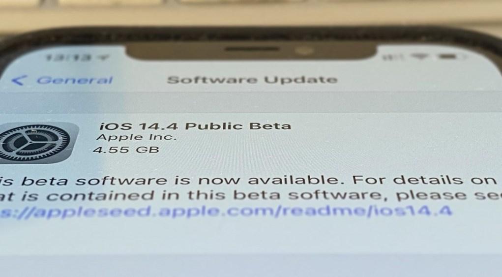 iOS 14.4 beta pública