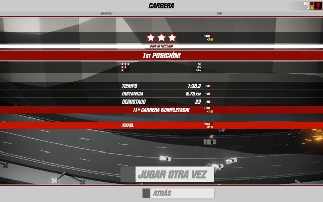 Primera carrera ganada