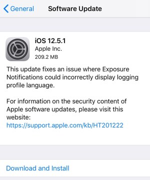 iOS 12.5.1 Actualizacion para dispositivos antiguos