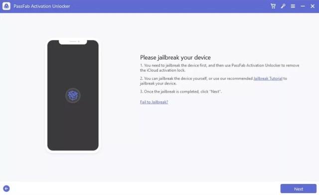 Iniciar desbloqueo de iCloud via jailbreak