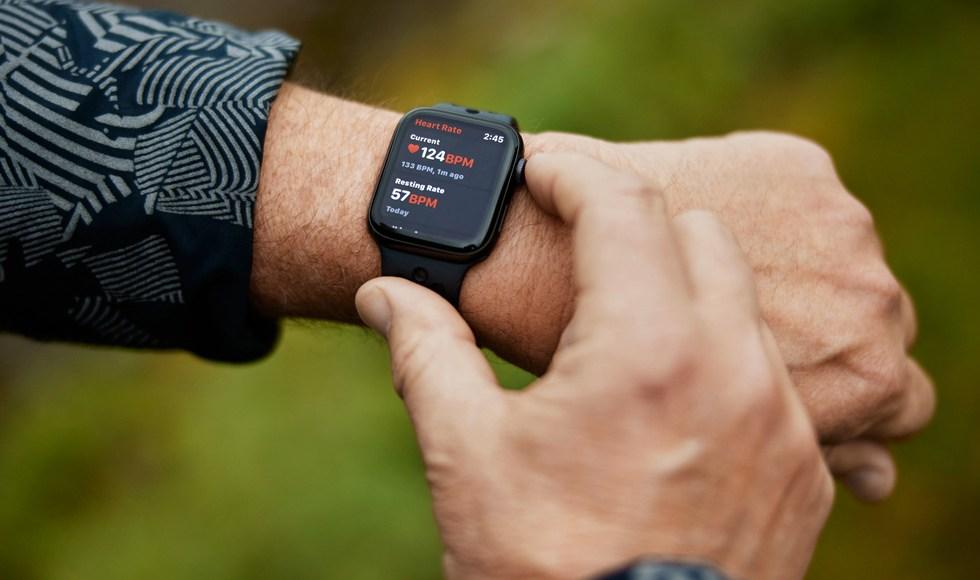 Monitor de frecuencia cardiaca Apple Watch