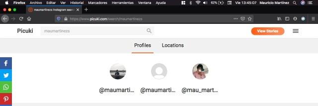 Selecciona perfil para ver el feed