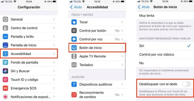 Ajustes de accesibilidad iPhone